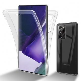 Cadorabo Hülle kompatibel mit Samsung Galaxy Note 20 Ultra in TRANSPARENT - 360° Full Body Handyhülle Front und Rückenschutz Rundumschutz Schutzhülle mit Displayschutz