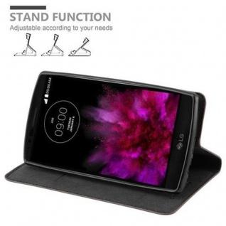 Cadorabo Hülle für LG FLEX 2 in KAFFEE BRAUN - Handyhülle mit Magnetverschluss, Standfunktion und Kartenfach - Case Cover Schutzhülle Etui Tasche Book Klapp Style - Vorschau 4