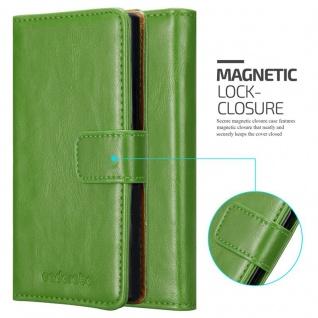 Cadorabo Hülle für LG STYLUS 2 in GRAS GRÜN - Handyhülle mit Magnetverschluss, Standfunktion und Kartenfach - Case Cover Schutzhülle Etui Tasche Book Klapp Style - Vorschau 2
