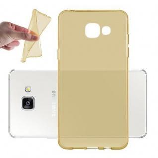 Cadorabo Hülle für Samsung Galaxy A3 2016 in TRANSPARENT GOLD - Handyhülle aus flexiblem TPU Silikon - Silikonhülle Schutzhülle Ultra Slim Soft Back Cover Case Bumper