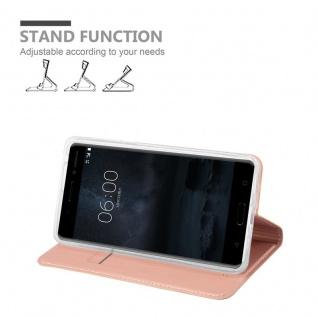 Cadorabo Hülle für Nokia 6 2017 in CLASSY ROSÉ GOLD - Handyhülle mit Magnetverschluss, Standfunktion und Kartenfach - Case Cover Schutzhülle Etui Tasche Book Klapp Style - Vorschau 4