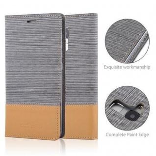 Cadorabo Hülle für Honor 5C in HELL GRAU BRAUN - Handyhülle mit Magnetverschluss, Standfunktion und Kartenfach - Case Cover Schutzhülle Etui Tasche Book Klapp Style - Vorschau 2