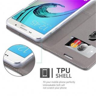 Cadorabo Hülle für Samsung Galaxy J5 2016 in GRAU SCHWARZ - Handyhülle mit Magnetverschluss, Standfunktion und Kartenfach - Case Cover Schutzhülle Etui Tasche Book Klapp Style - Vorschau 5