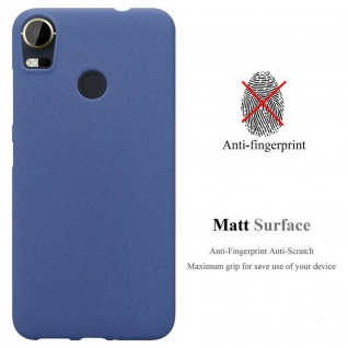 Cadorabo Hülle für HTC Desire 10 PRO in FROST DUNKEL BLAU - Handyhülle aus flexiblem TPU Silikon - Silikonhülle Schutzhülle Ultra Slim Soft Back Cover Case Bumper - Vorschau 2