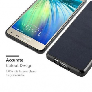 Cadorabo Hülle für Samsung Galaxy A3 2015 in WOODEN BLAU ? Handyhülle aus flexiblem TPU Silikon ? Silikonhülle Schutzhülle Ultra Slim Soft Back Cover Case Bumper - Vorschau 5