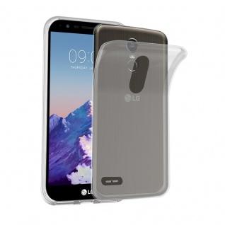 Cadorabo Hülle für LG STYLUS 3 in VOLL TRANSPARENT Handyhülle aus flexiblem TPU Silikon Silikonhülle Schutzhülle Ultra Slim Soft Back Cover Case Bumper