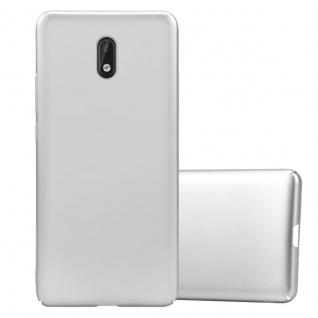 Cadorabo Hülle für Nokia 3 2017 in METALL SILBER Hardcase Handyhülle aus Plastik gegen Kratzer und Stöße Schutzhülle Bumper Ultra Slim Back Case Hard Cover