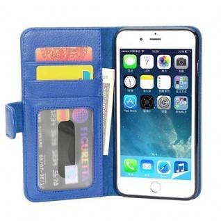 Cadorabo Hülle für Apple iPhone 8 PLUS / iPhone 7 PLUS / iPhone 7S PLUS in NEPTUN BLAU ? Handyhülle mit Magnetverschluss und 3 Kartenfächern ? Case Cover Schutzhülle Etui Tasche Book Klapp Style