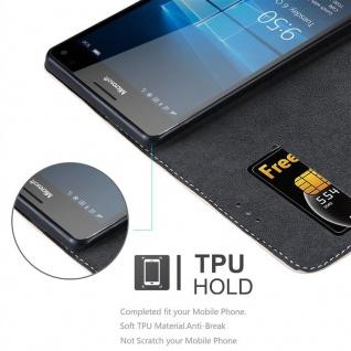 Cadorabo Hülle für Nokia Lumia 950 XL in ROSÉ GOLD SCHWARZ ? Handyhülle mit Magnetverschluss, Standfunktion und Kartenfach ? Case Cover Schutzhülle Etui Tasche Book Klapp Style