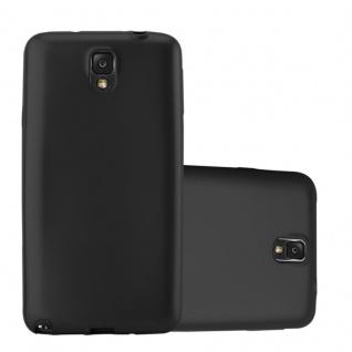 Cadorabo Hülle für Samsung Galaxy NOTE 3 in METALLIC SCHWARZ - Handyhülle aus flexiblem TPU Silikon - Silikonhülle Schutzhülle Ultra Slim Soft Back Cover Case Bumper