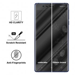 Cadorabo Panzer Folie für Nokia 3.1 2018 - Schutzfolie in KRISTALL KLAR - Gehärtetes (Tempered) Display-Schutzglas in 9H Härte mit 3D Touch Kompatibilität - Vorschau 3