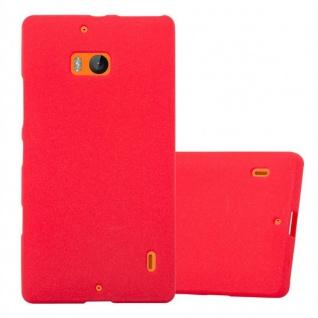 Cadorabo Hülle für Nokia Lumia 929 / 930 in FROST ROT - Handyhülle aus flexiblem TPU Silikon - Silikonhülle Schutzhülle Ultra Slim Soft Back Cover Case Bumper
