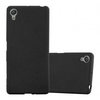 Cadorabo Hülle für Sony Xperia X - Hülle in FROST SCHWARZ ? Handyhülle aus TPU Silikon im matten Frosted Design - Ultra Slim Soft Backcover Case Bumper
