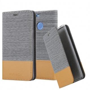 Cadorabo Hülle für Huawei NOVA 2 in HELL GRAU BRAUN - Handyhülle mit Magnetverschluss, Standfunktion und Kartenfach - Case Cover Schutzhülle Etui Tasche Book Klapp Style