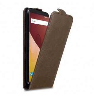 Cadorabo Hülle für WIKO VIEW GO in KAFFEE BRAUN Handyhülle im Flip Design mit Magnetverschluss Case Cover Schutzhülle Etui Tasche Book Klapp Style