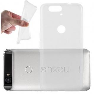 Cadorabo Hülle für Huawei NEXUS 6P in VOLL TRANSPARENT - Handyhülle aus flexiblem TPU Silikon - Silikonhülle Schutzhülle Ultra Slim Soft Back Cover Case Bumper
