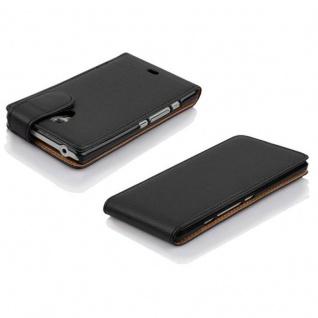 Cadorabo Hülle für Sony Xperia T in OXID SCHWARZ - Handyhülle im Flip Design aus strukturiertem Kunstleder - Case Cover Schutzhülle Etui Tasche Book Klapp Style - Vorschau 3