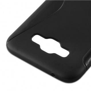 Cadorabo Hülle für Samsung Galaxy E7 2015 in OXID SCHWARZ - Handyhülle aus flexiblem TPU Silikon - Silikonhülle Schutzhülle Ultra Slim Soft Back Cover Case Bumper - Vorschau 4