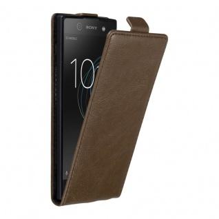 Cadorabo Hülle für Sony Xperia XA1 in KAFFEE BRAUN - Handyhülle im Flip Design mit unsichtbarem Magnetverschluss - Case Cover Schutzhülle Etui Tasche Book Klapp Style