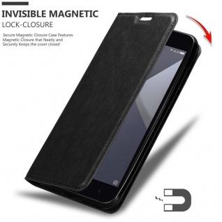 Cadorabo Hülle für Xiaomi RedMi NOTE 5A in NACHT SCHWARZ - Handyhülle mit Magnetverschluss, Standfunktion und Kartenfach - Case Cover Schutzhülle Etui Tasche Book Klapp Style - Vorschau 3