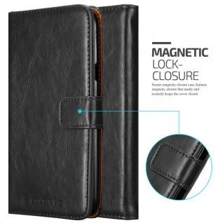 Cadorabo Hülle für LG X Power 2 in GRAPHIT SCHWARZ - Handyhülle mit Magnetverschluss, Standfunktion und Kartenfach - Case Cover Schutzhülle Etui Tasche Book Klapp Style - Vorschau 2