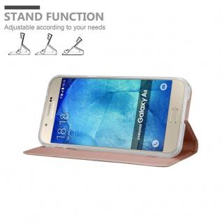 Cadorabo Hülle für Samsung Galaxy A8 2015 in CLASSY ROSÉ GOLD - Handyhülle mit Magnetverschluss, Standfunktion und Kartenfach - Case Cover Schutzhülle Etui Tasche Book Klapp Style - Vorschau 4