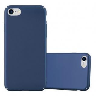 Cadorabo Hülle für Apple iPhone 7 / iPhone 7S / iPhone 8 in METALL BLAU - Hardcase Handyhülle aus Plastik gegen Kratzer und Stöße - Schutzhülle Bumper Ultra Slim Back Case Hard Cover