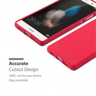 Cadorabo Hülle für Huawei P8 LITE 2015 in FROST ROT - Handyhülle aus flexiblem TPU Silikon - Silikonhülle Schutzhülle Ultra Slim Soft Back Cover Case Bumper - Vorschau 2