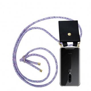 Cadorabo Handy Kette für OnePlus 7 PRO in UNICORN Silikon Necklace Umhänge Hülle mit Gold Ringen, Kordel Band Schnur und abnehmbarem Etui Schutzhülle