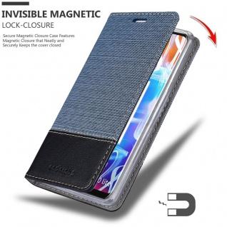 Cadorabo Hülle für Huawei MATE 20 LITE in DUNKEL BLAU SCHWARZ - Handyhülle mit Magnetverschluss, Standfunktion und Kartenfach - Case Cover Schutzhülle Etui Tasche Book Klapp Style - Vorschau 3