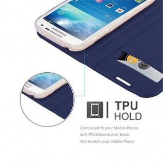 Cadorabo Hülle für Samsung Galaxy S4 MINI in CLASSY DUNKEL BLAU - Handyhülle mit Magnetverschluss, Standfunktion und Kartenfach - Case Cover Schutzhülle Etui Tasche Book Klapp Style - Vorschau 2