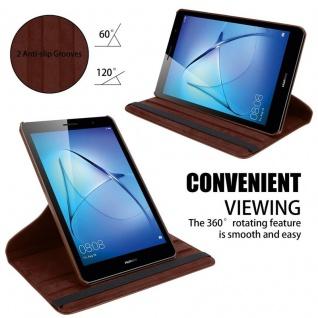 """Cadorabo Tablet Hülle für Huawei MediaPad T3 8 (8, 0"""" Zoll) in PILZ BRAUN Book Style Schutzhülle OHNE Auto Wake Up mit Standfunktion und Gummiband Verschluss - Vorschau 5"""