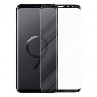 Cadorabo Vollbild Panzer Folie für Samsung Galaxy S9 PLUS - Schutzfolie in TRANSPARENT mit SCHWARZ - Gehärtetes (Tempered) Display-Schutzglas in 9H Härte mit 3D Touch Kompatibilität - Vorschau 2