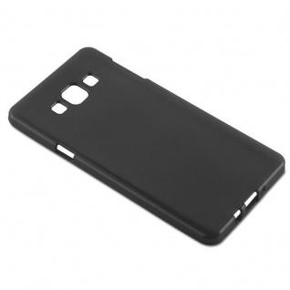 Cadorabo Hülle für Samsung Galaxy A7 2015 in SCHWARZ - Handyhülle aus flexiblem TPU Silikon - Silikonhülle Schutzhülle Ultra Slim Soft Back Cover Case Bumper - Vorschau 3