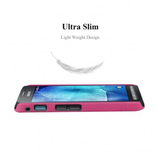 Cadorabo Hülle für Samsung Galaxy XCover 3 in FROSTY PINK - Hardcase Handyhülle aus Plastik gegen Kratzer und Stöße - Schutzhülle Bumper Ultra Slim Back Case Hard Cover - Vorschau 2