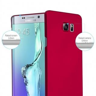 Cadorabo Hülle für Samsung Galaxy S6 EDGE PLUS in METALL ROT - Hardcase Handyhülle aus Plastik gegen Kratzer und Stöße - Schutzhülle Bumper Ultra Slim Back Case Hard Cover - Vorschau 2