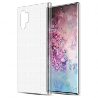 Cadorabo Hülle für Samsung Galaxy NOTE 10 PLUS in VOLL TRANSPARENT - Handyhülle aus flexiblem TPU Silikon - Silikonhülle Schutzhülle Ultra Slim Soft Back Cover Case Bumper
