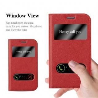 Cadorabo Hülle für Samsung Galaxy XCOVER 3 in SAFRAN ROT - Handyhülle mit Magnetverschluss, Standfunktion und 2 Sichtfenstern - Case Cover Schutzhülle Etui Tasche Book Klapp Style - Vorschau 2