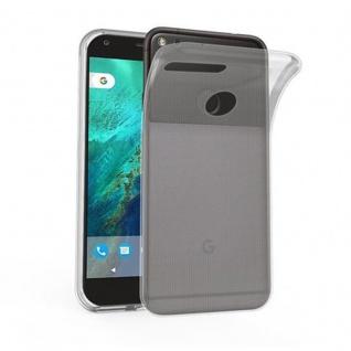 Cadorabo Hülle für Google Pixel in VOLL TRANSPARENT - Handyhülle aus flexiblem TPU Silikon - Silikonhülle Schutzhülle Ultra Slim Soft Back Cover Case Bumper