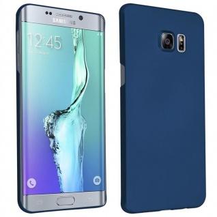 Cadorabo Hülle für Samsung Galaxy S6 EDGE PLUS in METALL BLAU - Hardcase Handyhülle aus Plastik gegen Kratzer und Stöße - Schutzhülle Bumper Ultra Slim Back Case Hard Cover