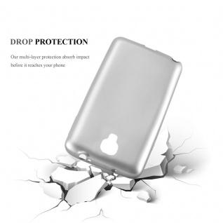 Cadorabo Hülle für Samsung Galaxy NOTE 3 NEO in METALLIC SILBER - Handyhülle aus flexiblem TPU Silikon - Silikonhülle Schutzhülle Ultra Slim Soft Back Cover Case Bumper - Vorschau 3