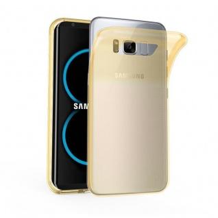 Cadorabo Hülle für Samsung Galaxy S8 in TRANSPARENT GOLD Handyhülle aus flexiblem TPU Silikon Silikonhülle Schutzhülle Ultra Slim Soft Back Cover Case Bumper