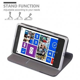Cadorabo Hülle für Nokia Lumia 1020 in GRAU SCHWARZ - Handyhülle mit Magnetverschluss, Standfunktion und Kartenfach - Case Cover Schutzhülle Etui Tasche Book Klapp Style - Vorschau 4