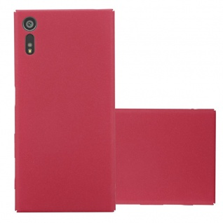 Cadorabo Hülle für Sony Xperia XZ / XZs in FROSTY ROT - Hardcase Handyhülle aus Plastik gegen Kratzer und Stöße - Schutzhülle Bumper Ultra Slim Back Case Hard Cover