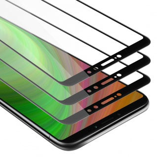 Cadorabo 3x Vollbild Panzer Folie für Xiaomi Mi MAX 2 Schutzfolie in TRANSPARENT mit SCHWARZ 3er Pack Gehärtetes (Tempered) Display-Schutzglas in 9H Härte mit 3D Touch