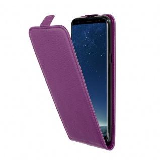 Cadorabo Hülle für Samsung Galaxy S8 PLUS in BORDEAUX LILA - Handyhülle im Flip Design aus strukturiertem Kunstleder - Case Cover Schutzhülle Etui Tasche Book Klapp Style