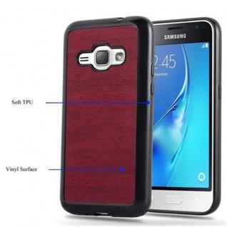 Cadorabo Hülle für Samsung Galaxy J1 2016 in WOODEN ROT - Handyhülle aus flexiblem TPU Silikon - Silikonhülle Schutzhülle Ultra Slim Soft Back Cover Case Bumper - Vorschau 4