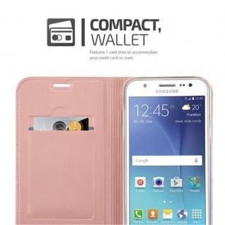 Cadorabo Hülle für Samsung Galaxy J5 2015 in CLASSY ROSÉ GOLD - Handyhülle mit Magnetverschluss, Standfunktion und Kartenfach - Case Cover Schutzhülle Etui Tasche Book Klapp Style - Vorschau 3
