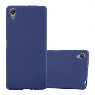 Cadorabo Hülle für Sony Xperia X in FROST DUNKEL BLAU - Handyhülle aus flexiblem TPU Silikon - Silikonhülle Schutzhülle Ultra Slim Soft Back Cover Case Bumper