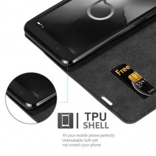 Cadorabo Hülle für Alcatel 1C 2019 in KAFFEE BRAUN - Handyhülle mit Magnetverschluss, Standfunktion und Kartenfach - Case Cover Schutzhülle Etui Tasche Book Klapp Style - Vorschau 4